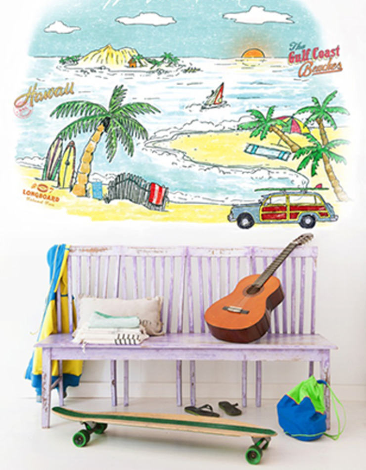 Field of Flowers Wall Mural 3900140: tropical  by Paper Moon, Tropical