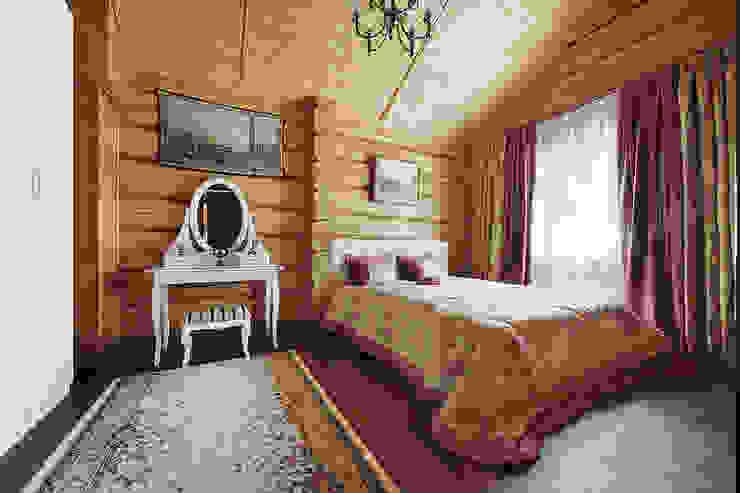 Коттедж в Сысерти Спальня в рустикальном стиле от Ирина Шаманова Рустикальный