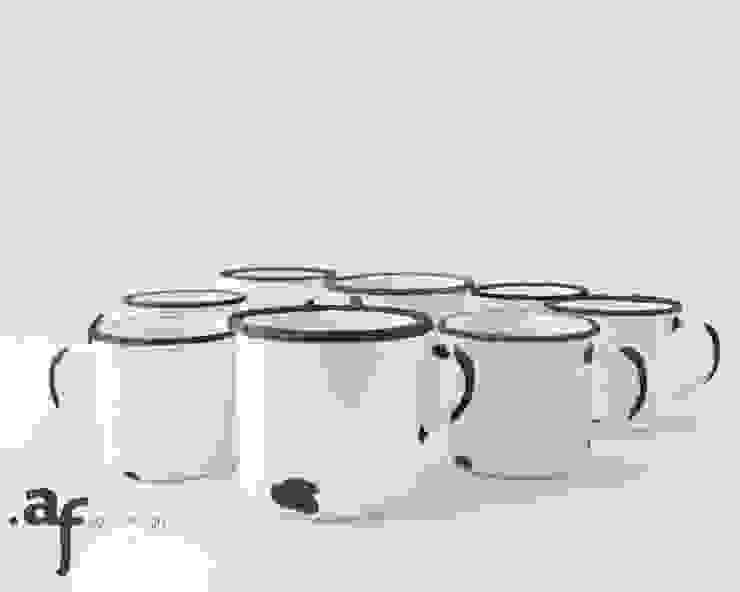 """Kubek ceramiczny - """"Tak jestem z ceramiki"""" od Agaf Design Nowoczesny"""
