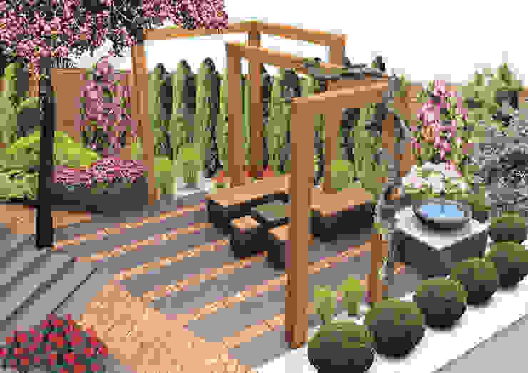 Zakątek wypoczynkowy - wersja 1 Nowoczesny ogród od UNICAT GARDEN Nowoczesny