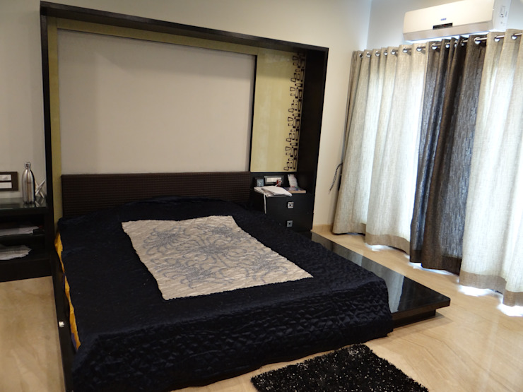 Residence of Mr. Vijayanand Modern style bedroom by Hasta architects Modern