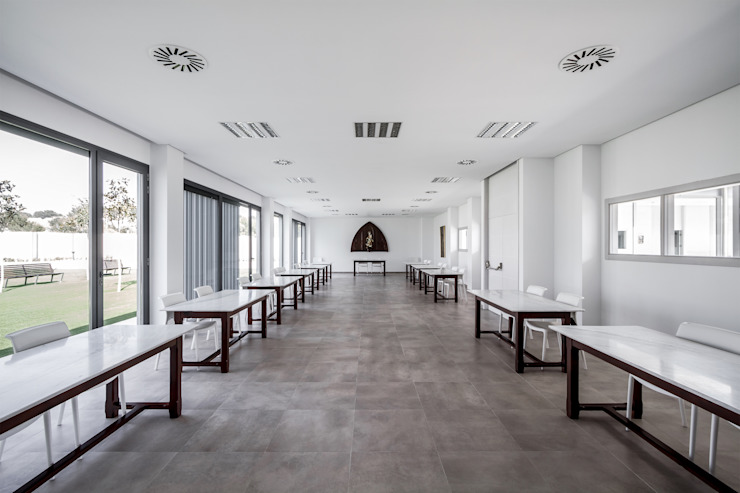 Comedor Comedores de estilo moderno de Hernández Arquitectos Moderno