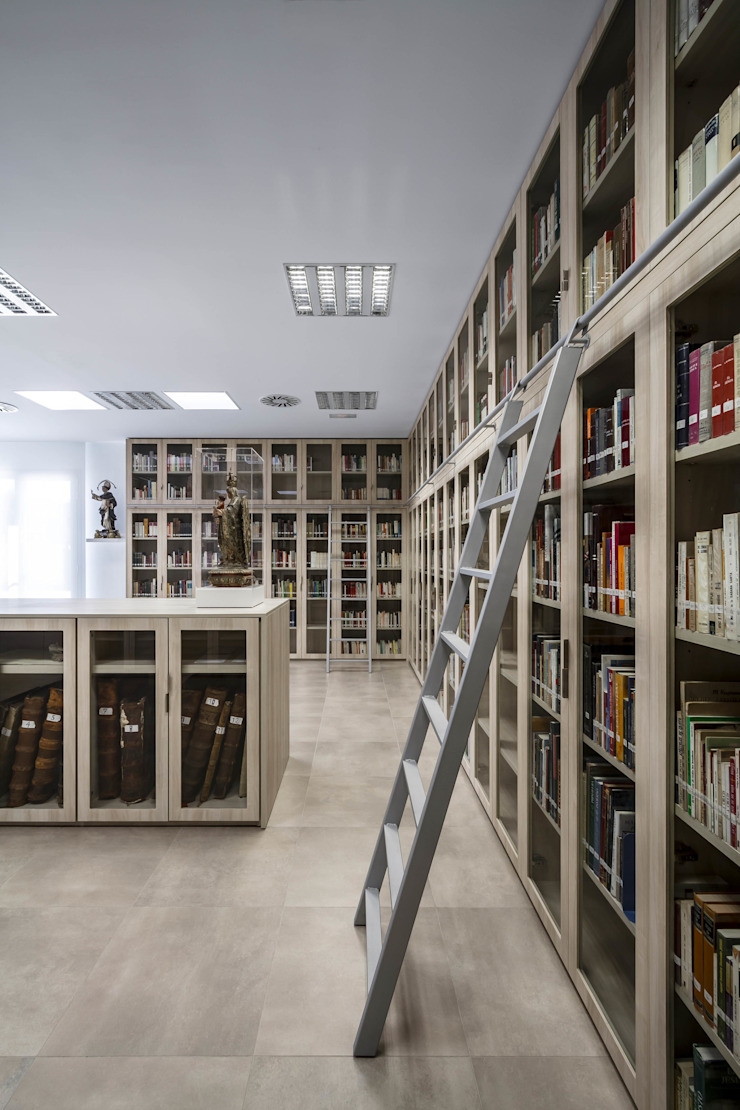 Biblioteca de Hernández Arquitectos Moderno