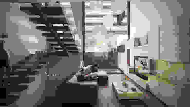 Rancho San Juan Salones modernos de Pure Design Moderno