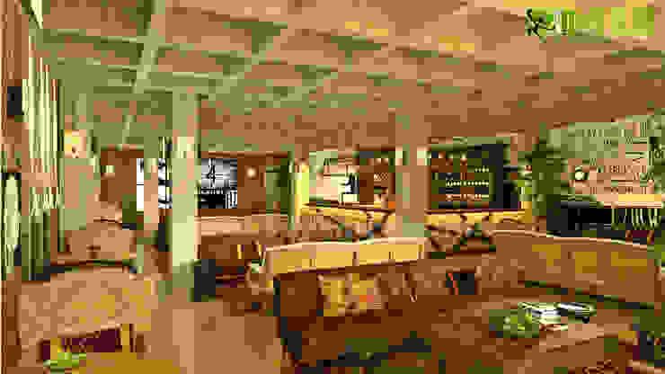 kommerziellen 3D Interior Design klassisches Restaurant Modern offices & stores by Architectural Design Studio Modern