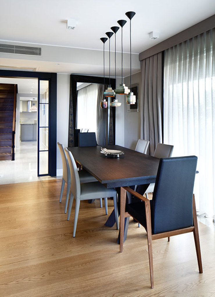 dining area: eclectic  by Esra Kazmirci Mimarlik, Eclectic