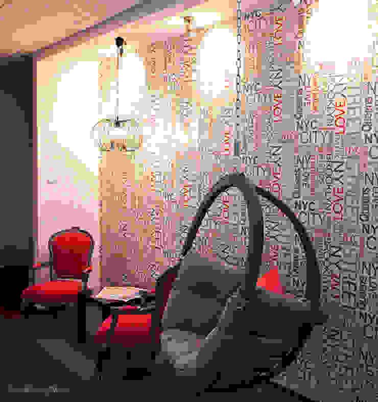 Zalubska Studio Projekt Open Spaces dla Media Com Warszawa Space 1 od Zalubska Studio Nowoczesny