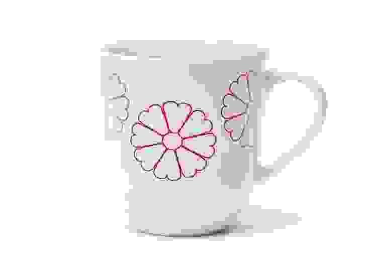 Porcelanowy kubek Makatka Róż marki Zulana (poj.0,35l) od Zulana Klasyczny