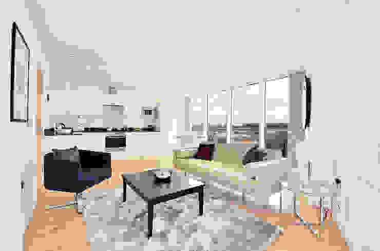 Open plan flat Modern living room by Graham D Holland Modern