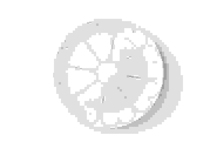 Porcelanowy talerz z kolekcji Makatka Turkus marki Zulana (śr.21cm) od Zulana Klasyczny