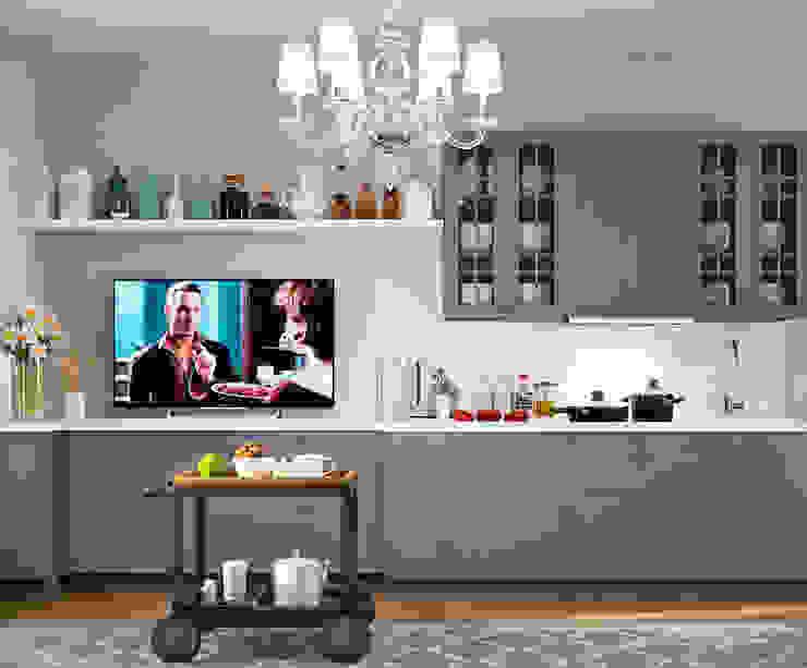 Столовая зона Кухня в скандинавском стиле от EJ Studio Скандинавский