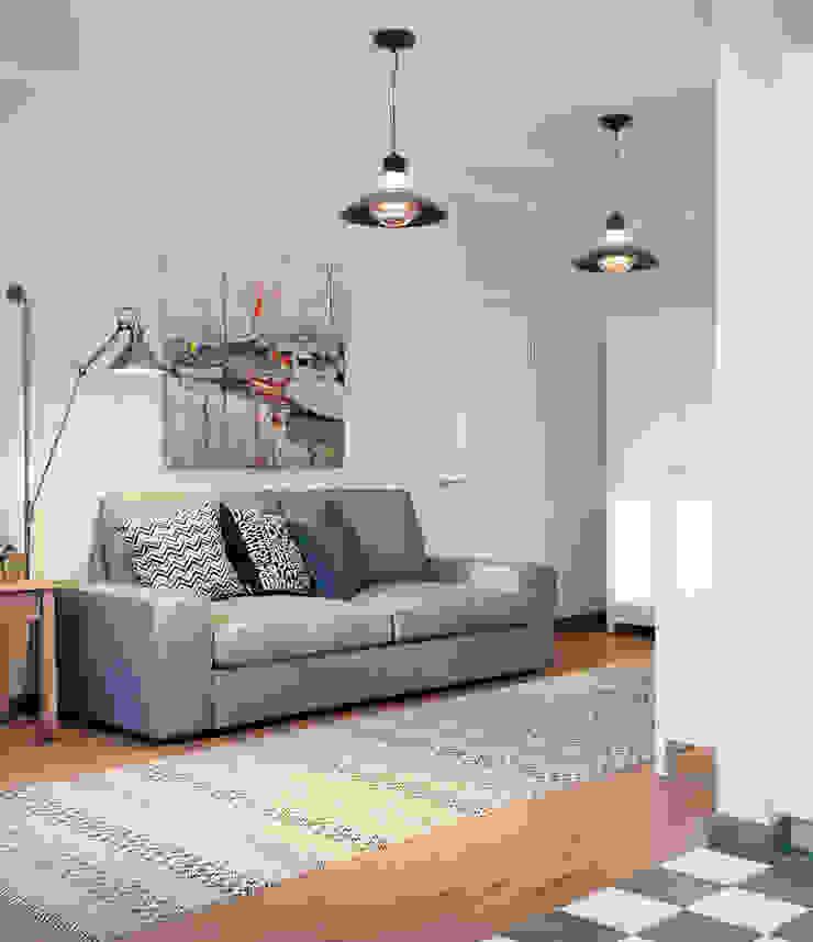 Гостиная Гостиная в скандинавском стиле от EJ Studio Скандинавский