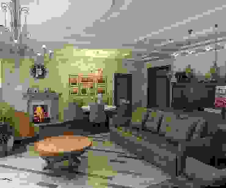 Кухня-гостинная Гостиная в классическом стиле от Efimova Ekaterina Классический
