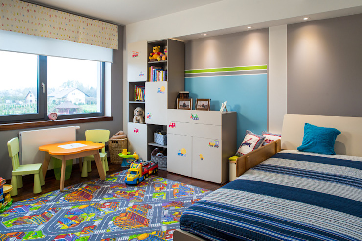 Pokój chłopca Nowoczesny pokój dziecięcy od Viva Design - projektowanie wnętrz Nowoczesny