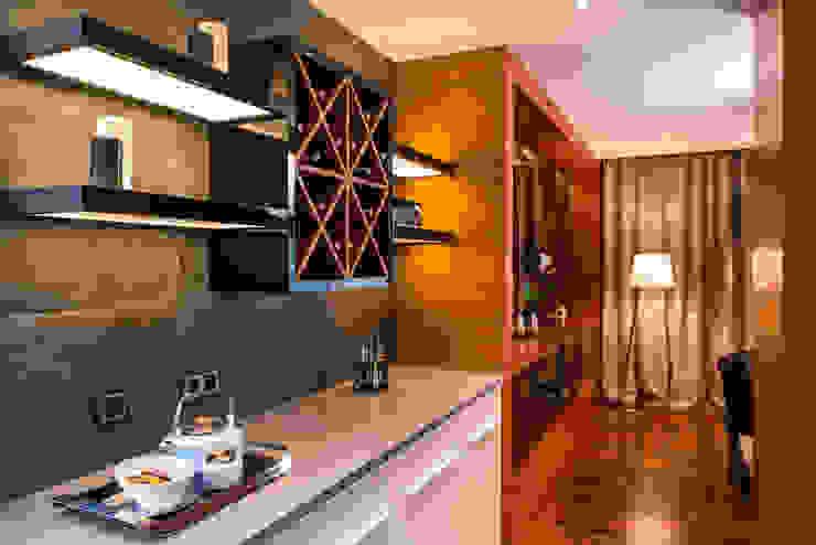 現代廚房設計點子、靈感&圖片 根據 Viva Design - projektowanie wnętrz 現代風