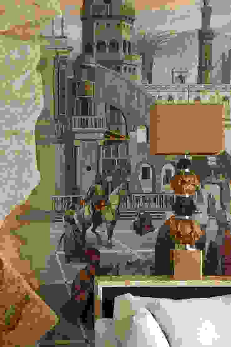 Росписи на стене в гостиной Гостиная в средиземноморском стиле от Галерея Фрейман Средиземноморский
