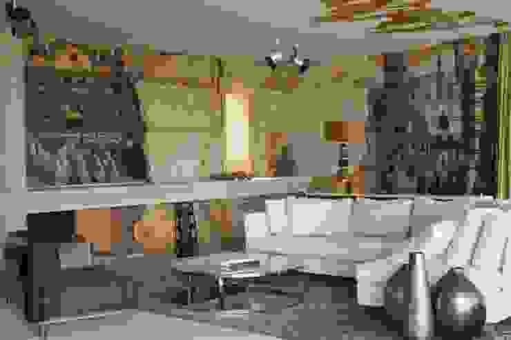 Фрагмент гостиной Гостиная в средиземноморском стиле от Галерея Фрейман Средиземноморский