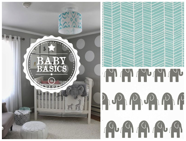 DREAMS Elephant Mint de BabyBasics Clásico
