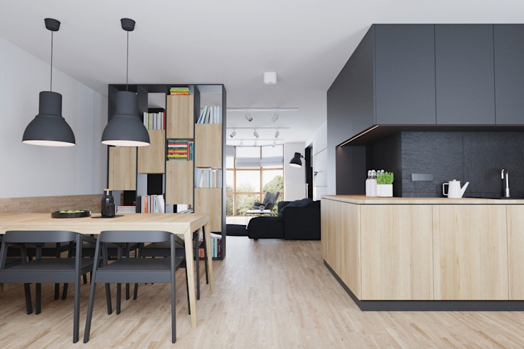 Mieszkanie JM Minimalistyczna kuchnia od 081 architekci Minimalistyczny