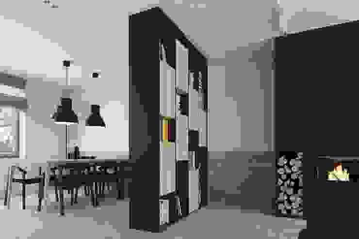 Mieszkanie JM Minimalistyczne ściany i podłogi od 081 architekci Minimalistyczny