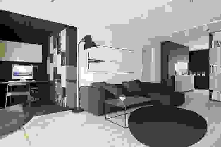 Mieszkanie JM Minimalistyczny salon od 081 architekci Minimalistyczny