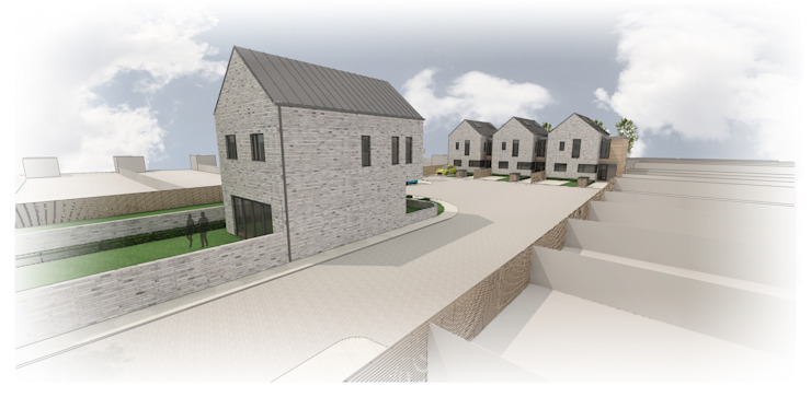 3d Model of housing development in Surrey by PAD ARCHITECTS
