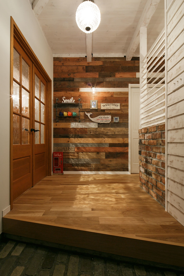 industrial style corridor, hallway & stairs by dwarf Industrial
