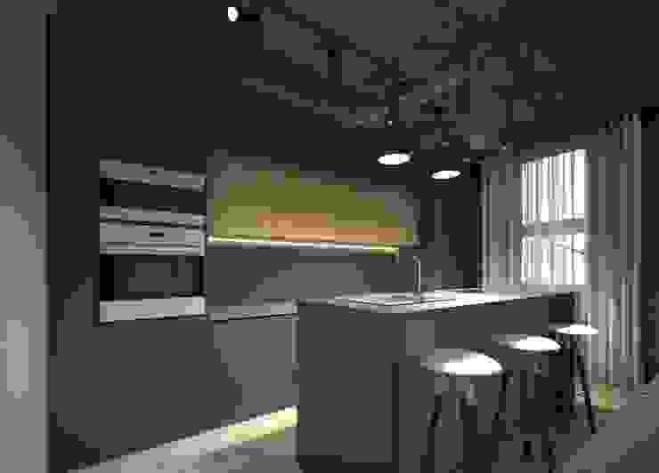 Industrial style kitchen by Elena Arsentyeva Industrial