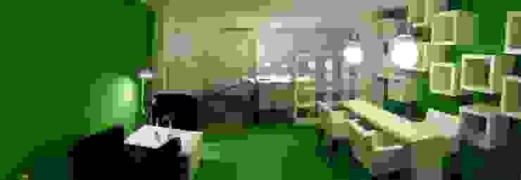 Vista general Oficinas y tiendas de estilo moderno de SALME+BASACHS Interioristes Moderno