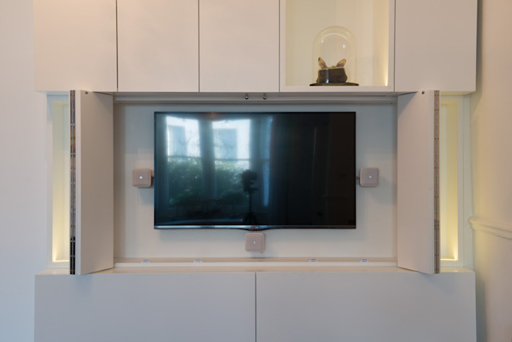 Peckham Victorian house wrap around extension Ar'Chic Living roomTV stands & cabinets
