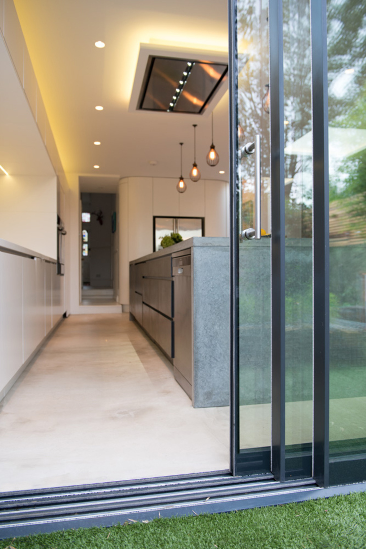 Peckham Victorian house wrap around extension Industrial style kitchen by Ar'Chic Industrial