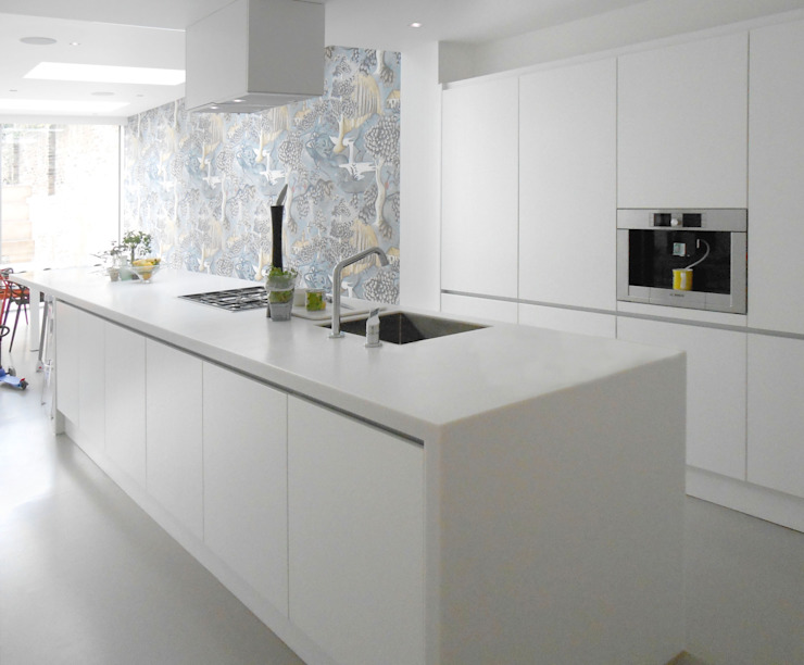 basement creation and 3 storey house extension Minimalist kitchen by Ar'Chic Minimalist