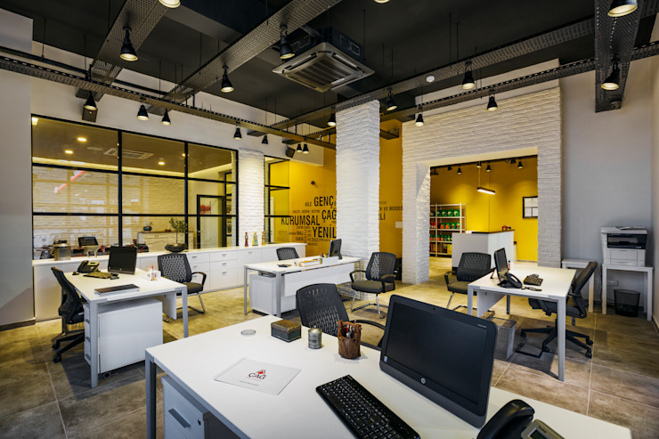 Industrial style office buildings by Kıbrıs Developments Industrial