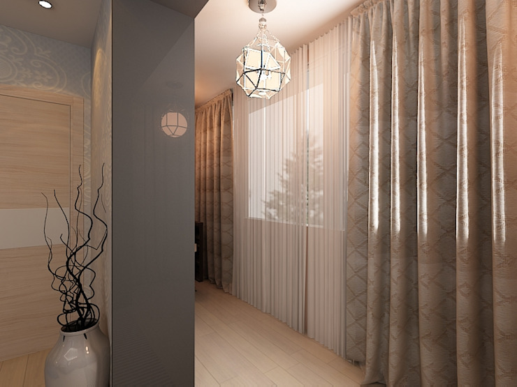 Квартира 71м2. в г.Балашиха, для молодой семьи, мамы, папы и дочери. Балкон и терраса в классическом стиле от Ольга Зелинская Классический