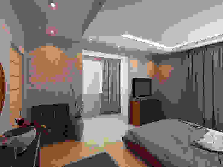 Квартира 71м2. в г.Балашиха, для молодой семьи, мамы, папы и дочери. Спальня в классическом стиле от Ольга Зелинская Классический