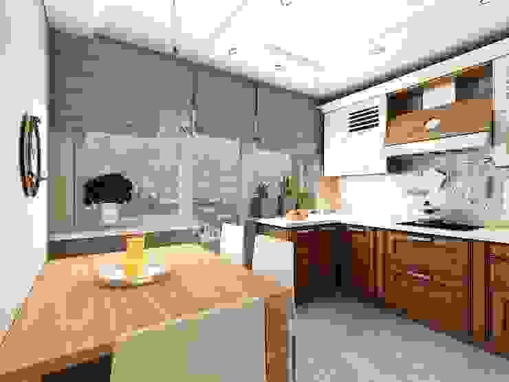 Квартира  71м2.  в г.Балашиха, для молодой семьи, мамы, папы и дочери.: Кухни в . Автор – Ольга Зелинская,