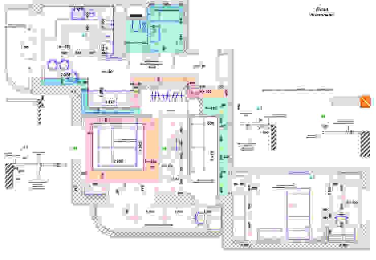 Квартира 71м2. в г.Балашиха, для молодой семьи, мамы, папы и дочери. от Ольга Зелинская Классический