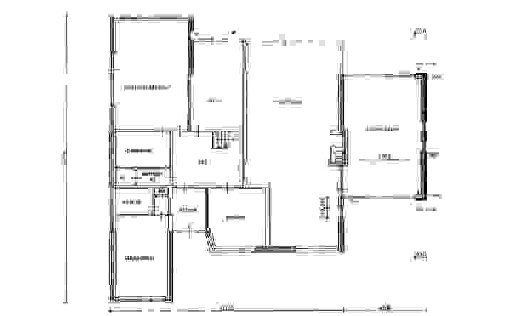 De bestaande plattegrond van de begane grond van Architéma Architectuurstudio