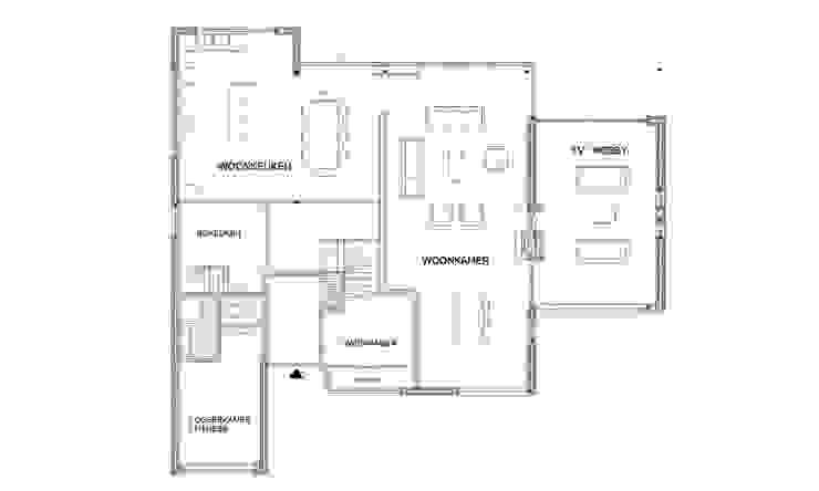 De nieuwe plattegrond van de begane grond van Architéma Architectuurstudio
