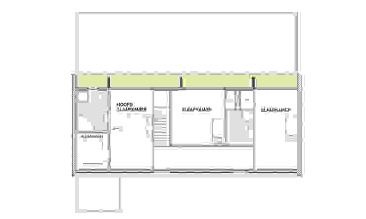 De plattegrond van de nieuwe verdieping van Architéma Architectuurstudio