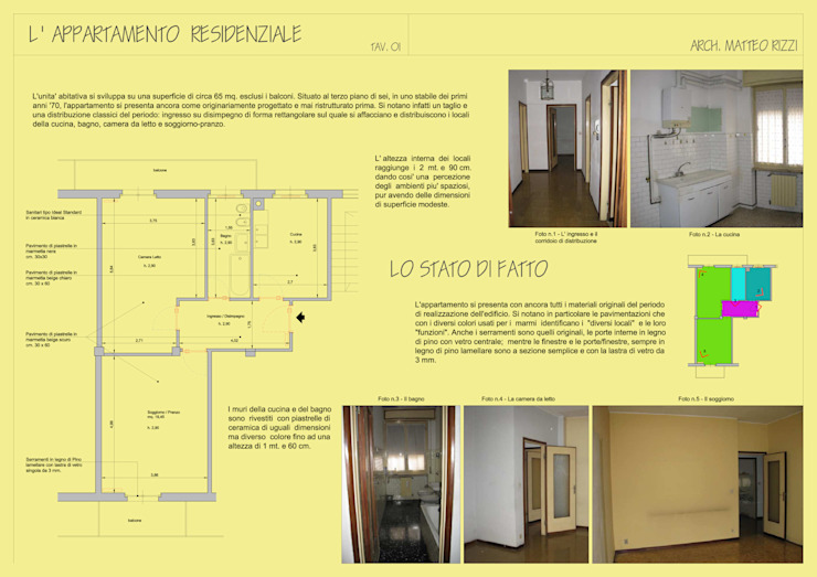 Ristrutturazione appartamento a Bergamo di ARKHISTUDIO