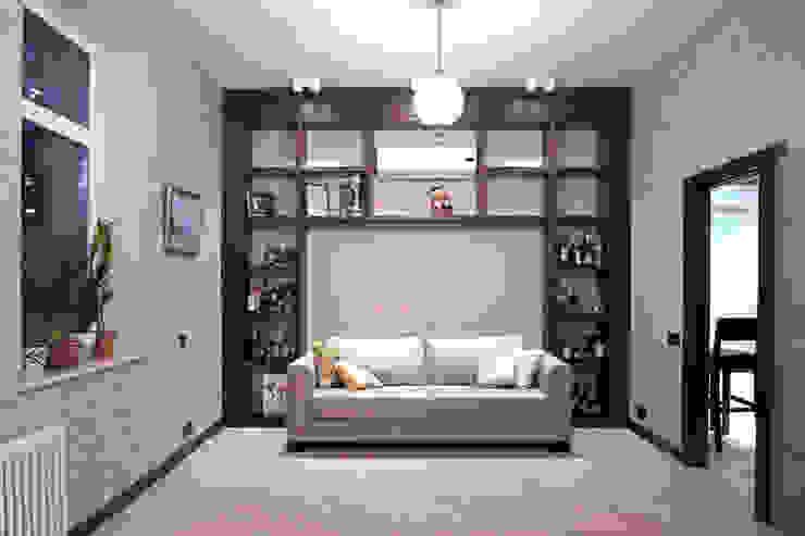 Двухуровневая квартира Рабочий кабинет в стиле модерн от Александр Михайлик Модерн