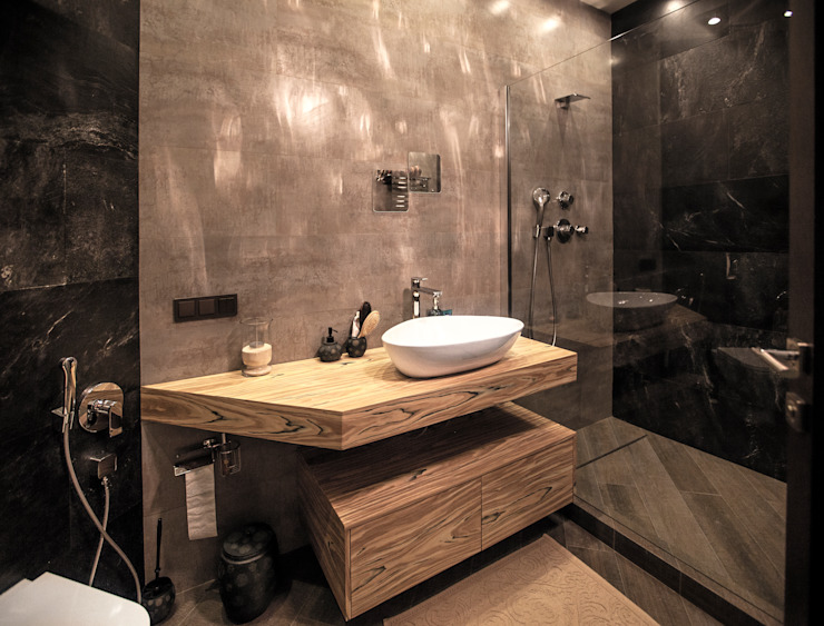 Двухуровневая квартира Ванная в стиле лофт от Александр Михайлик Лофт