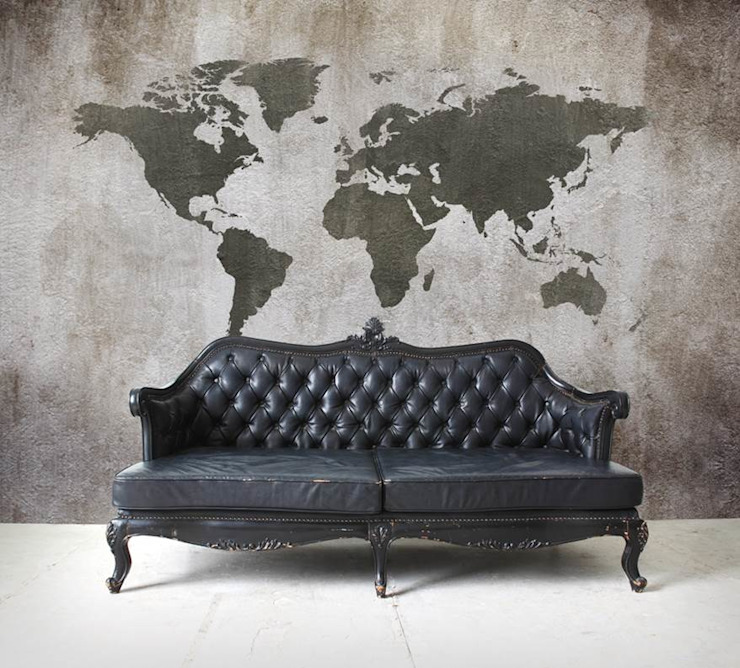 Worldmap Concrete Moderne woonkamers van BN International Modern