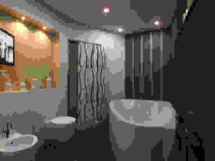 Квартира мотоциклиста Ванная комната в стиле модерн от Ольга Зелинская Модерн