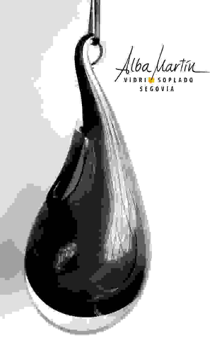 jarrón colgante de Alba Martín Vidrio Soplado Minimalista