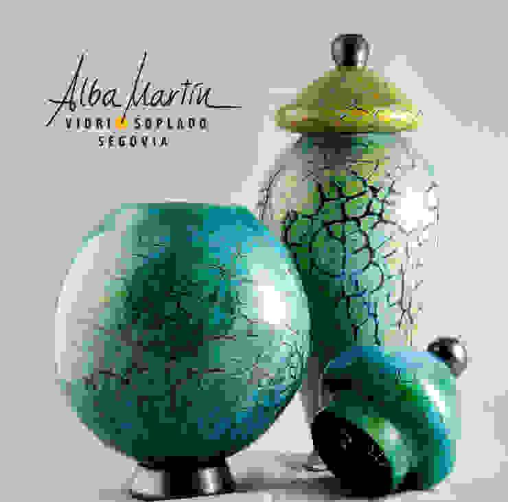 """""""Urnas crackeladas"""" vidrio soplado de Alba Martín Vidrio Soplado Moderno"""