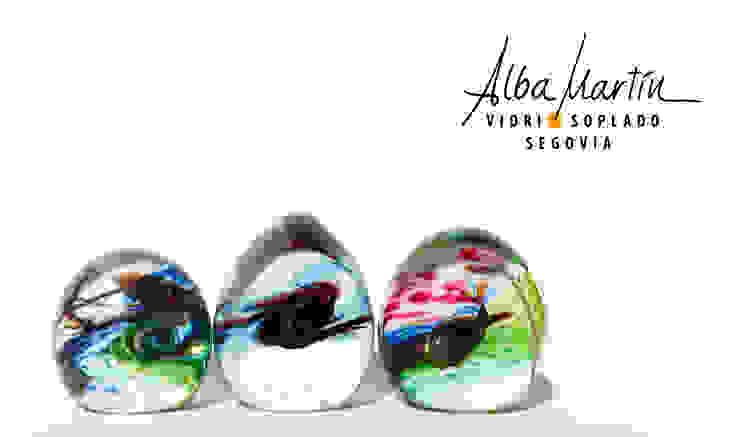 """""""Pisapapeles efectos ópticos"""" vidrio soplado de Alba Martín Vidrio Soplado Moderno"""