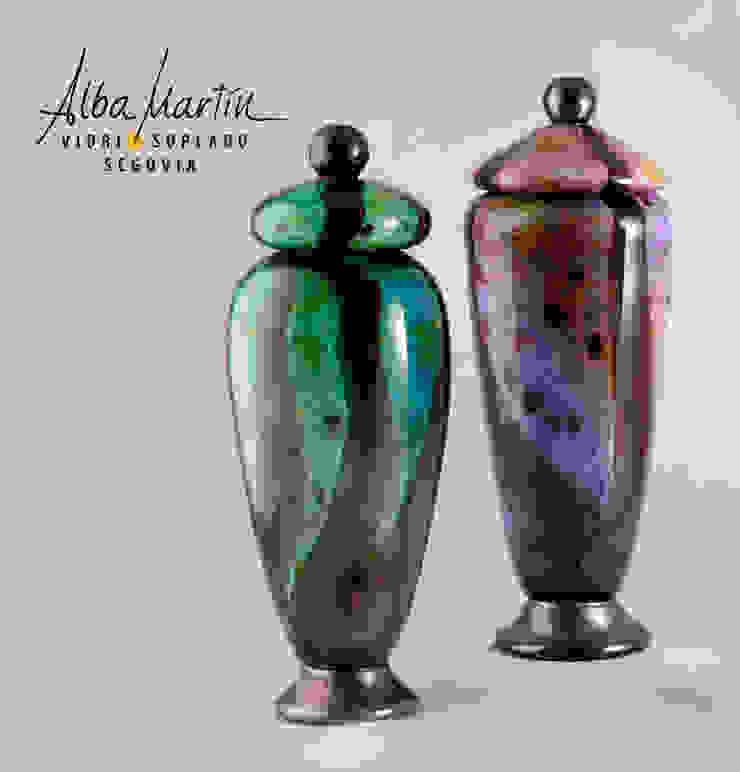 """Urnas"" vidrio soplado de Alba Martín Vidrio Soplado Moderno"