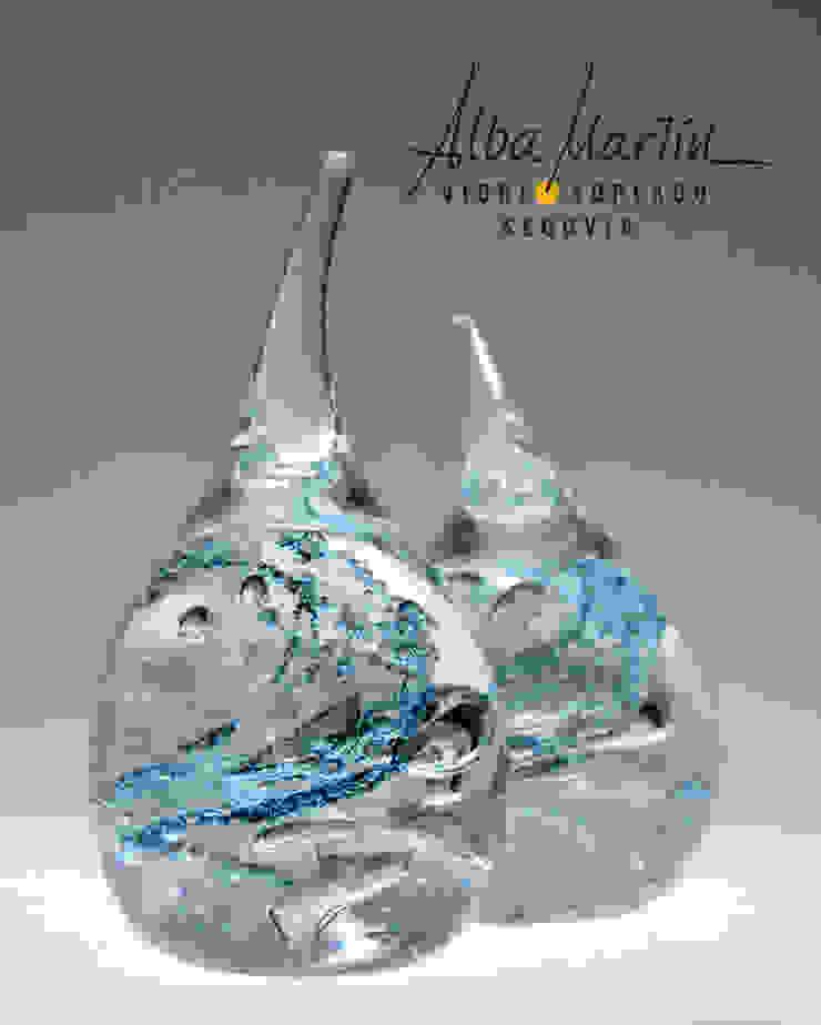 """Anillero Huracán"" vidrio soplado de Alba Martín Vidrio Soplado Minimalista"
